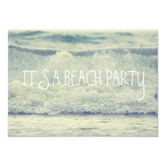 Beautiful Blue Rolling Beach Waves 13 Cm X 18 Cm Invitation Card