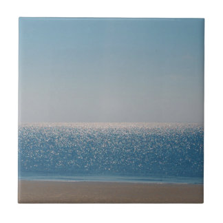BEAUTIFUL BLUE SEA AND SHIMMER SMALL SQUARE TILE