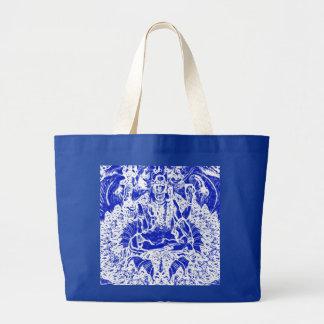 BEAUTIFUL BLUE SHIVA TOTE OR YOGA BAG FOR ALTAR