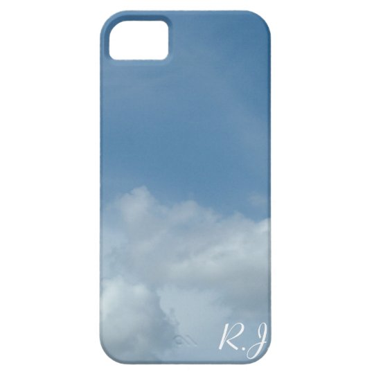 Beautiful blue sky and white clouds iPhone 5 cover