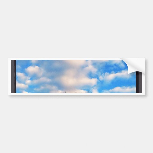 Beautiful blue sky fall by healing love bumper stickers