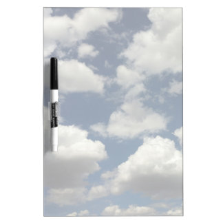 Beautiful Blue Sky with Puffy White Clouds Dry Erase Board