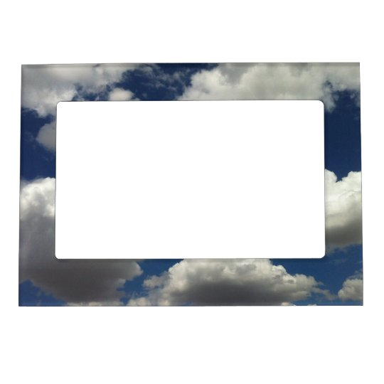 Beautiful Blue Sky with Puffy White Clouds Magnetic