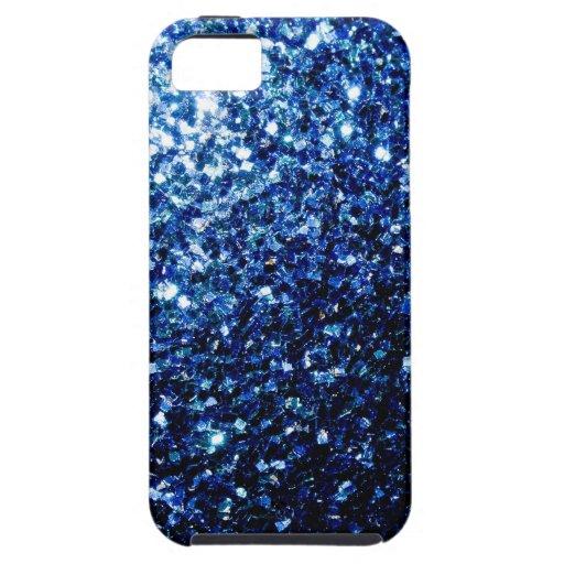 Beautiful Blue sparkles iPhone 5 Case