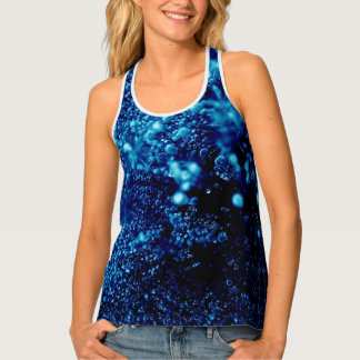 Beautiful blue sparkles Frozen bubbles Tank Top