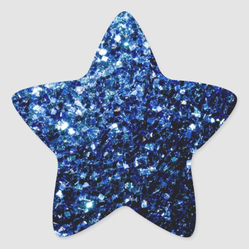 Beautiful Blue sparkles Star Sticker