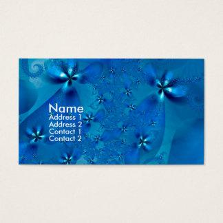 Beautiful Blue Spiral Fine Fractal Art Business Card