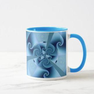 Beautiful Blue Spiral Fine Fractal Art Mug