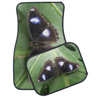 Beautiful Blue Spotted Butterfly Car Mat Set