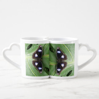 Beautiful Blue Spotted Butterfly Lovers Mugs