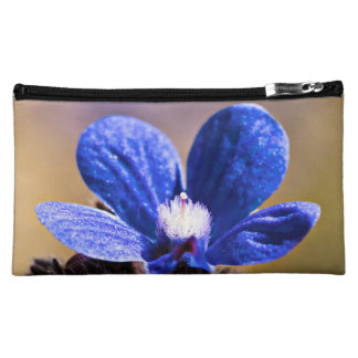 Beautiful Blue Spring Flower Cosmetic Bag