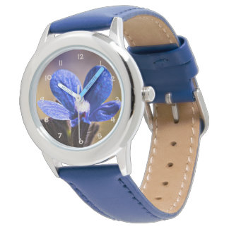 Beautiful Blue Spring Flower Watch