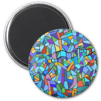 Beautiful Blue stained glass effect Magnet