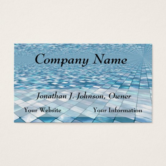 Beautiful Blue Tiles Mosaic Pattern Business Cards