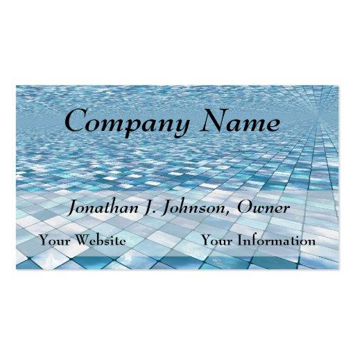 Beautiful Blue Tiles Mosaic Pattern Business Cards