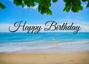 Tropical Island Birthday Cards Zazzle Uk