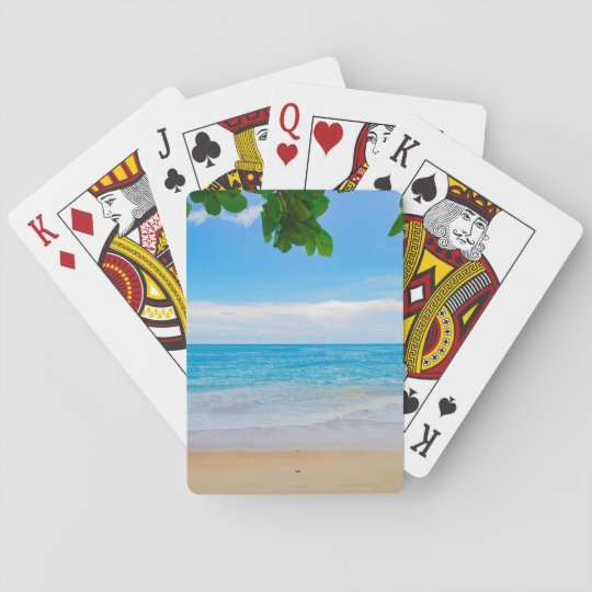 Beautiful Blue Tropical Beach Playing Cards