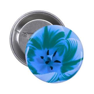 Beautiful Blue Tulip Button