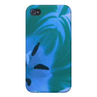 Beautiful Blue Tulip  Case For The iPhone 4