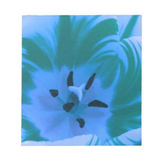 Beautiful Blue Tulip Notepad