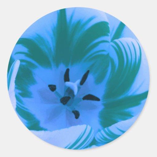 Beautiful Blue Tulip Sticker