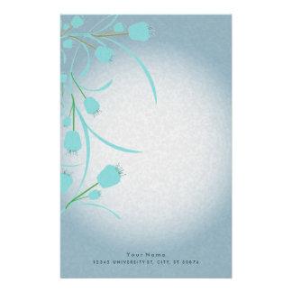Beautiful Blue Tulips Stationery Design