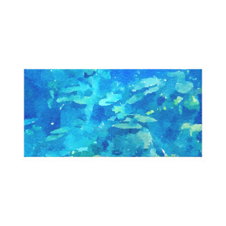 Beautiful Blue Watercolor Abstract Canvas Print