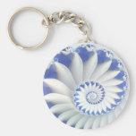 Beautiful Blue & White Sea Shell Abstract Art