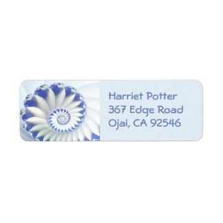 Beautiful Blue & White Sea Shell Fine Fractal Art