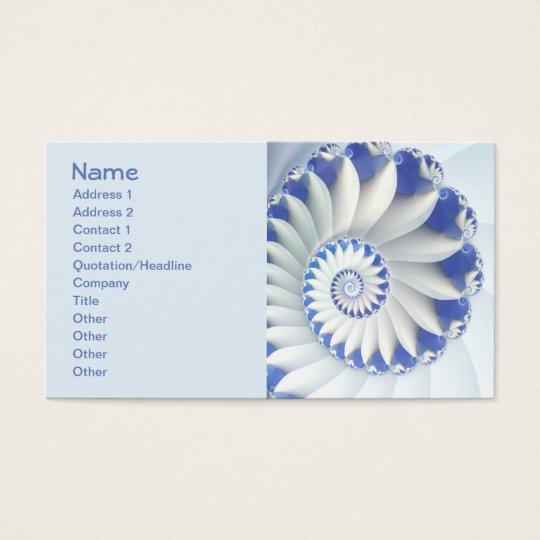 Beautiful Blue & White Sea Shell Fine Fractal