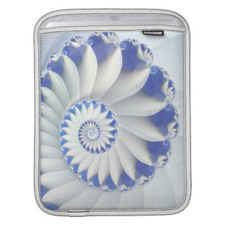 Beautiful Blue & White Sea Shell Fine Fractal Art iPad Sleeve