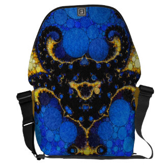 Beautiful Blue Yellow Abstract Commuter Bags