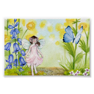 Beautiful bluebell fairy poster