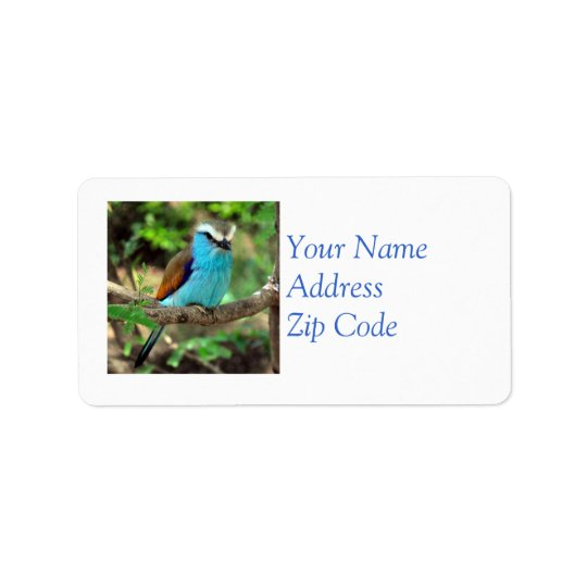Beautiful Bluebird Mailing Label