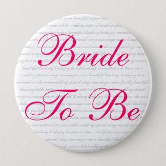 beautiful blushing bride joy love connection i ... 10 cm round badge