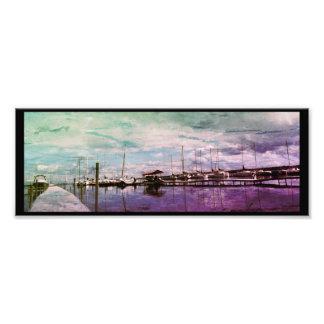 Beautiful Boat Dock Scenery Photo Print