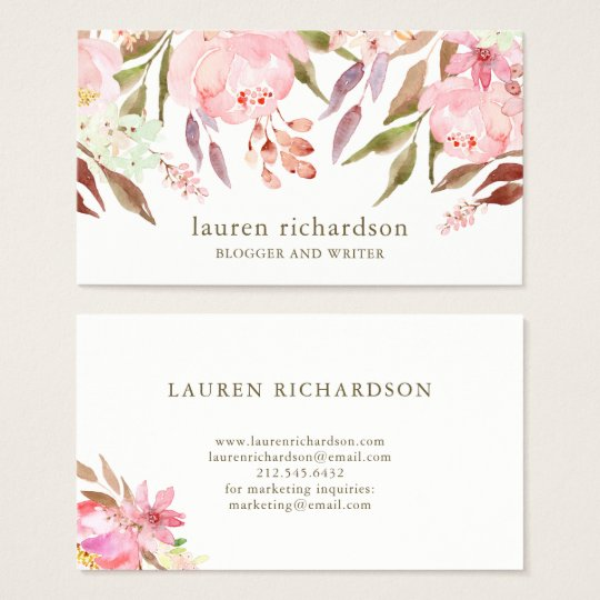 Beautiful Botanical | Watercolor Floral on White Business