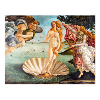 Beautiful Botticelli Venus Restored and Recolored Postcard