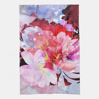 Beautiful bouquet of flowers tea towel