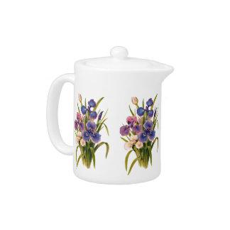 Beautiful Bouquet of Japanese Irises Pink Purple