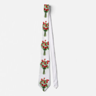 Beautiful Bouquet of Red Roses Tie