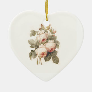 Beautiful  Bouquet of Rose  Redouté Christmas Ornament