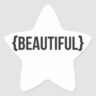Beautiful - Bracketed - Black and White Stickers