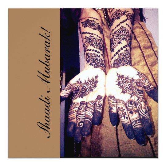 Beautiful bridal hands! card