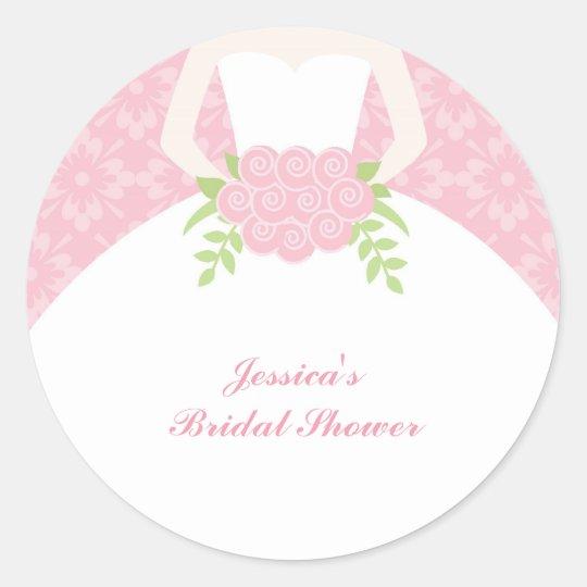 Beautiful Bride - Envelope Seals Round Sticker