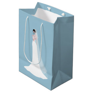 Beautiful Bride in Bridal Gown Medium Gift Bag