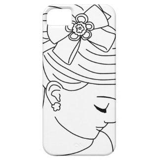 Beautiful Bride Profile Face iPhone 5 Cases