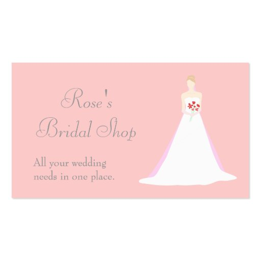 Collections Of Wedding Dress Business Cards