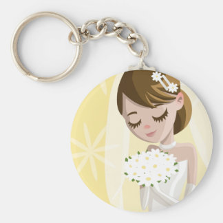Beautiful Brides Basic Round Button Key Ring