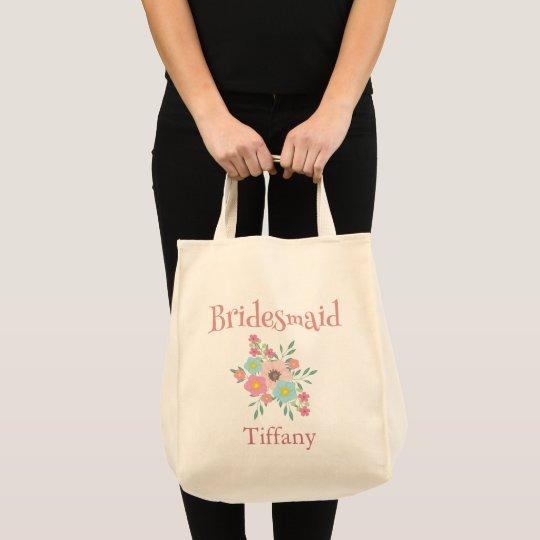 Beautiful Bridesmaid Floral Tote Bag